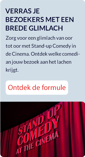 Stand-up comedy in de cinema